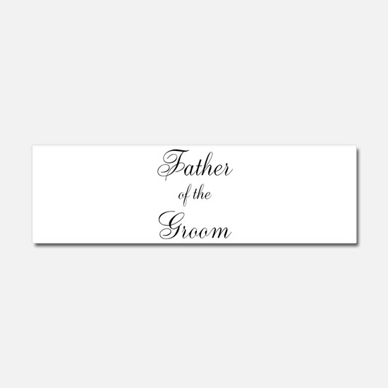 Father of the Groom Black Scr Car Magnet 10 x 3