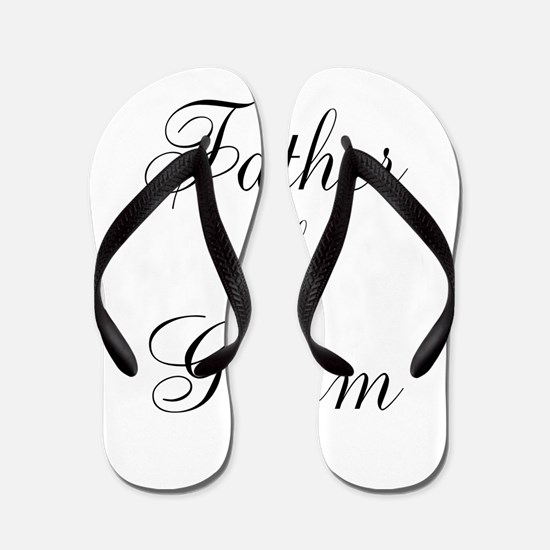 Father of the Groom Black Scr Flip Flops