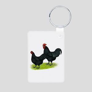 Australorp Chickens Aluminum Photo Keychain