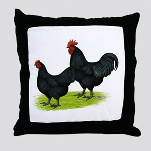Australorp Chickens Throw Pillow