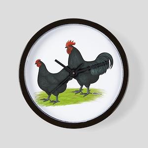 Australorp Chickens Wall Clock