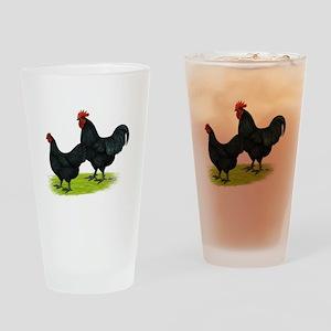 Australorp Chickens Drinking Glass