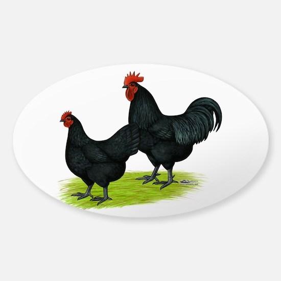 Australorp Chickens Sticker (Oval 10 pk)