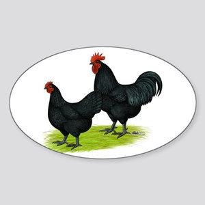Australorp Chickens Sticker (Oval)