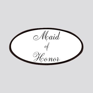Maid of Honor Black Script Patches