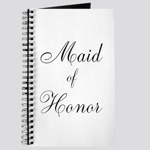 Maid of Honor Black Script Journal
