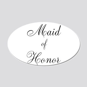 Maid of Honor Black Script 22x14 Oval Wall Peel