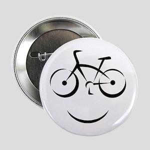 """Bike Smile 2.25"""" Button"""