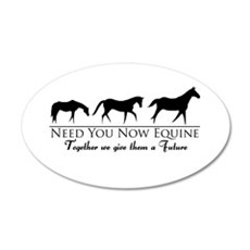 Need You Now Equine 22x14 Oval Wall Peel