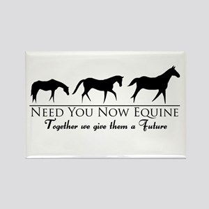 Need You Now Equine Rectangle Magnet