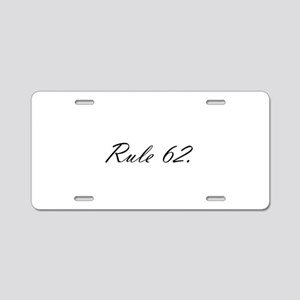 E Aluminum License Plate