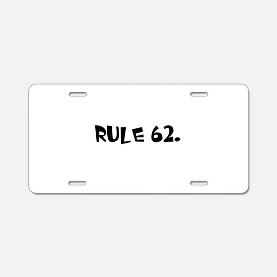 F Aluminum License Plate