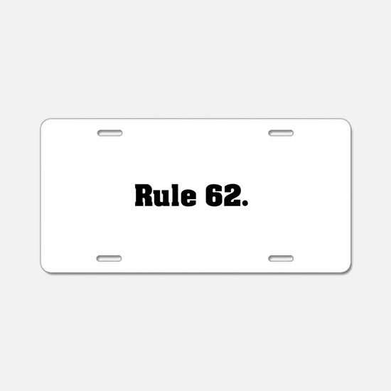 G Aluminum License Plate