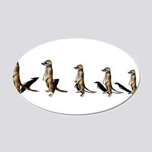 suricates in a row 22x14 Oval Wall Peel