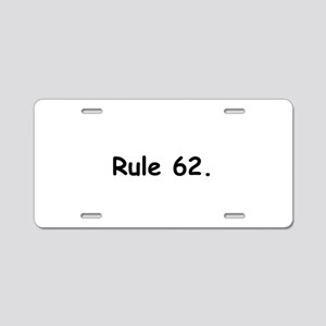 L Aluminum License Plate
