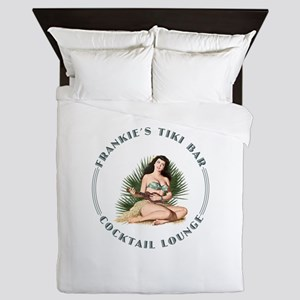 Frankie's Tiki Bar Hula Girl Queen Duvet