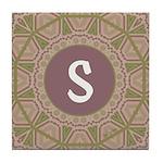 Prairie Promises Monogram Tile Coaster