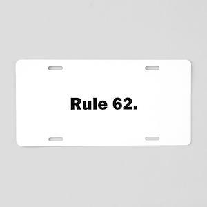 O Aluminum License Plate