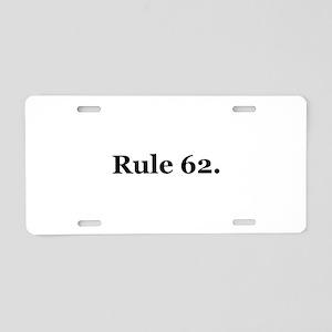 P Aluminum License Plate