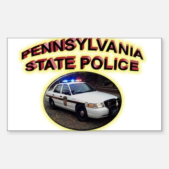 Pennsylvania State Police Sticker (Rectangle)
