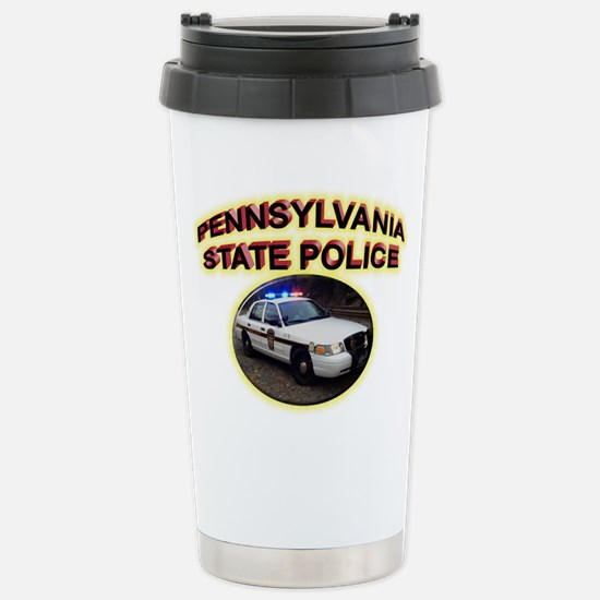 Pennsylvania State Police Stainless Steel Travel M