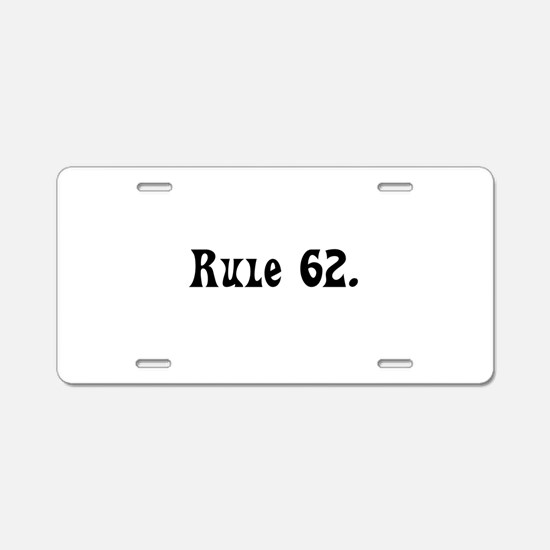 Q Aluminum License Plate