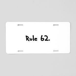R Aluminum License Plate