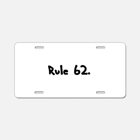 R Aluminum License Plate