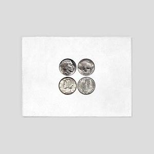 Buffalo Nickel 5'x7'Area Rug