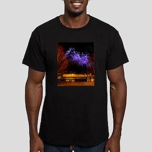 Alaska Railroad #02 Men's Fitted T-Shirt (dark)