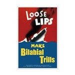 "Loose Lips Poster (11""x17"")"