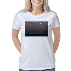 Prairie Moon With Clouds Women's Classic T-Shirt