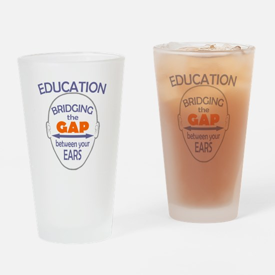 Bridging The Gap Drinking Glass