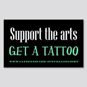 """Support Arts Tattoo"" Sticker (Rectangle)"
