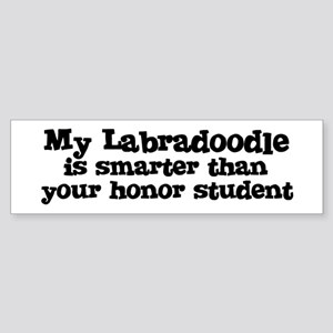 Honor Student: My Labradoodle Bumper Sticker