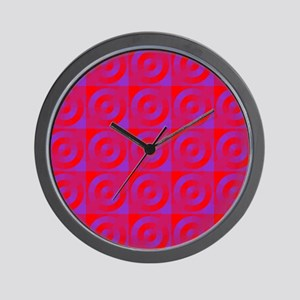 Circles in Squares Wall Clock