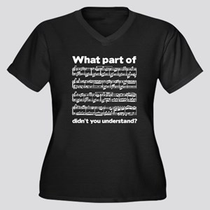 Partiture Women's Plus Size V-Neck Dark T-Shirt