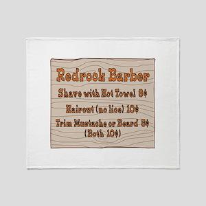 Old West Signs Redrock Barber Throw Blanket