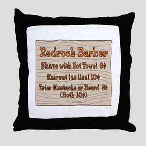 Old West Signs Redrock Barber Throw Pillow