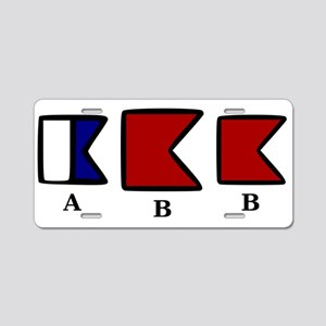 aBb Aluminum License Plate