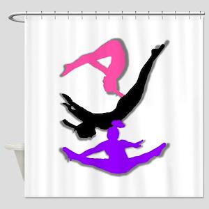Trampoline Gymnast Shower Curtain