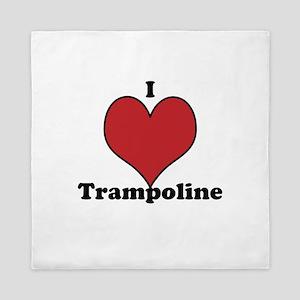 I Love Trampoline Queen Duvet