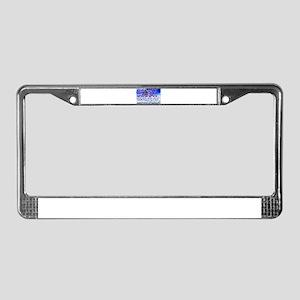 below zero License Plate Frame