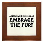 Australian Shepherd Dog Framed Tile