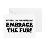 Australian Shepherd Dog Greeting Cards (Pk of 10)