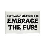 Australian Shepherd Dog Rectangle Magnet (100 pack