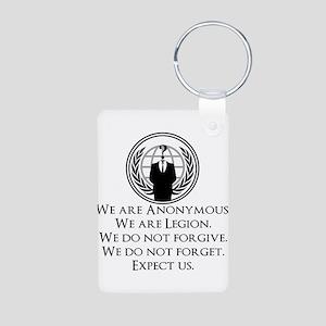 We are Anonymous Aluminum Photo Keychain