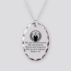 We are Anonymous Necklace Oval Charm