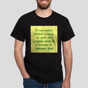 immanuel kant Dark T-Shirt