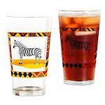 Zebra Drinking Glass